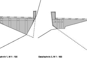 Detailschnitte D1+D2 , Schanerlochbrücke, M 1:100