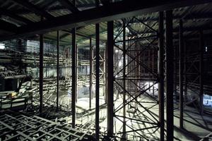 Blick in die Gerüstelandschaft Großer Saal 2012