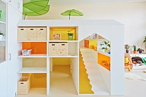 Die Möbel sind Rückzugsorte, an denen die Kinder spielen, toben und sich ausruhen können