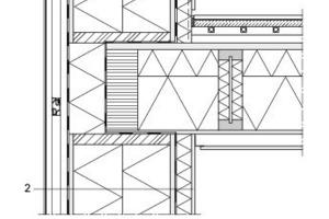 Detailschnitt opake Außenwand, M 1:20<br />