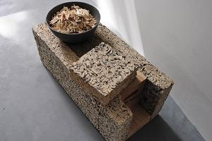 Holzbeton besteht aus Holzhäckseln und Zement als Bindemittel<br />
