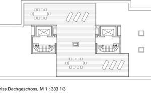 Grundriss Dachgeschoss, M 1:333 1/3<br /><br />
