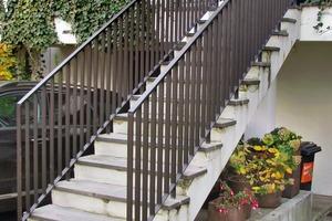 Bild1: Überblick über die Außentreppe
