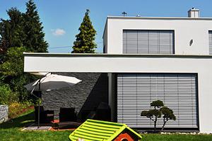 Ein Haus aus zwei Bauten