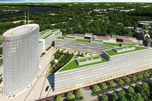 Der neue Vodafone Campus bietet auf 85000 m² Platz für 5000 Arbeitsplätze<br />