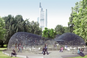 DAM-Pavillon, Barkow Leibinger Architekten, Berlin, 2009 (Visualisierung)<br />