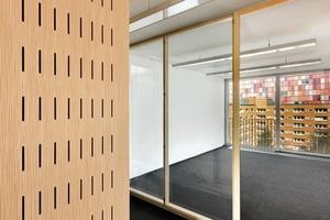 """<div class=""""2.6 Bildunterschrift"""">Offene Grundrisse lassen eine größtmögliche Flexibiltät der Raumauf-teilung und späteren Nutzung zu. Die Umnutzungsfähigkeit des Gebäudes wurde bei der DGNB-Gold-Vorzertifizierung ebenfalls positiv bewertet</div>"""