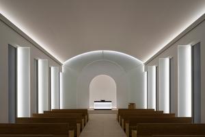 Das Konzept für die Beleuchtung der Kapelle stammt von James Turrell