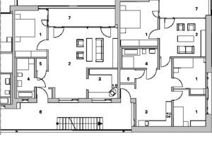 Teilgrundriss 3, Obergeschoss, M 1:200