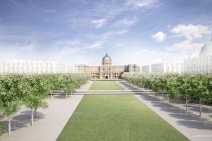 Humboldtforum Perspektive Allee und eher eine Hofgartenschau ...