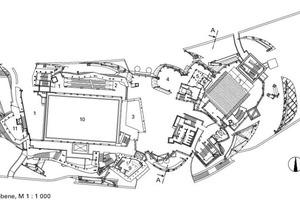 Grundriss Eingangsebene, M 1:1000