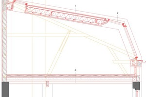 Dachdetail Seitenhaus, M 1:75