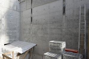 Ein Betonbau mit Bauteilaktivierung
