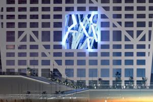 """Der """"Licht-Pavillon"""", Woods vielleicht einmal erstes und einzig realisiertes Architekturprojekt; in China (2006)"""