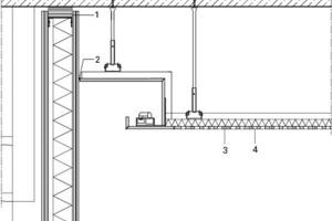 Detail Akustikdecke Foyer, M 1:17,5