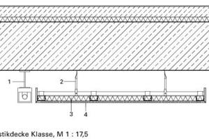Detail Akustikdecke Klasse, M 1:17,5