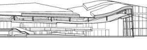 Schnitt CC, Bibliothek, M 1:1250<br />