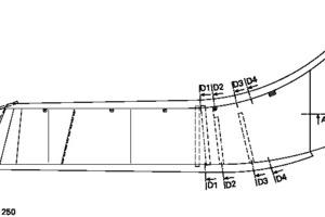 Grundriss Schaufelschluchtbrücke, M 1:250D