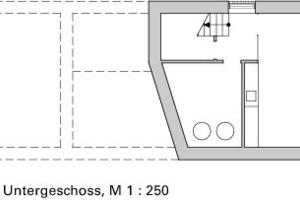 Untergeschoss, M 1:250<br />