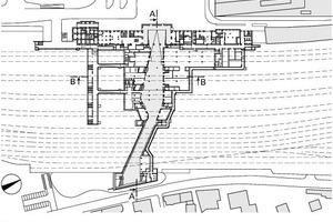 Grundriss Ebene Passage, M 1:3500