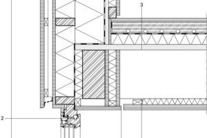 Detail, Anschluss Geschossdecke mit Fenster, M 1:12,5<br />
