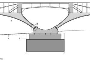 Detailschnitt AA, Pfeiler, M 1:500<br />