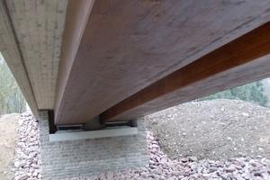 Blockverleimte Brettschichtholzträger der Birkberg-Brücke