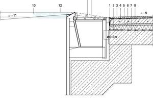 Detailschnitt Fliesenboden Schwimmbad, M 1:17,5<br />