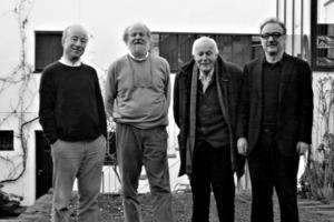 v.l.n.r.: Paul Böhm, Stephan Böhm, Gottfried Böhm, Peter Böhm auf dem Foto fehlt: Markus Böhm (Informatikstudium, als Maler tätig)