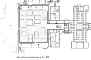 Grundriss Untergeschoss, M 1:1250<br />