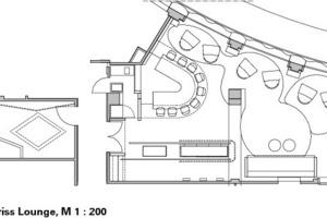 Grundriss Lounge, M 1:200