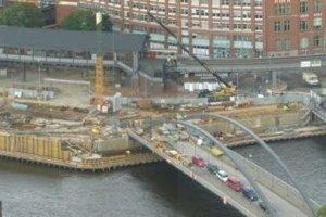 Der erste Bauabschnitt im Osten am City Sporthafen