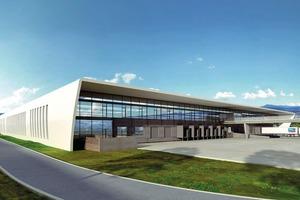 Projektbeispiel Gewerbeobjekt: Mit einem Volumen von 30000m² Dach- und Wandfläche setzt der Neubau der SMA AG neue Maßstäbe im Holzbau