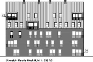 Übersicht Detail Block B, M 1 : 3331/3