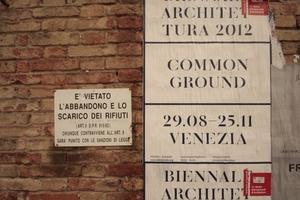 Architekturbiennale 2012: illegaler Plakatanschlag