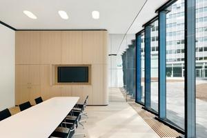 Auf 13Etagen ist Raum für ca.700Arbeitsplätze sowie ein Konferenzzentrum<br />