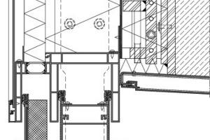 Abb. 8: Beispiel Elementfassade mit Bewegungsaufnahme einer Deckendurchbiegung von 34 mm