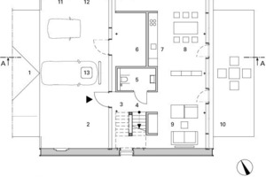 Grundriss Erdgeschoss Wohnen M 1:200<br /><br />