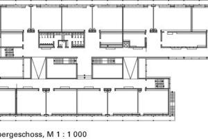 Grundriss, 1.OG M 1:1000<br />