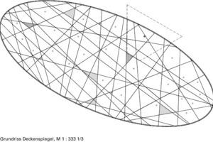 Grundriss Deckenspiegel, M 1:333 <sup>1</sup>/3
