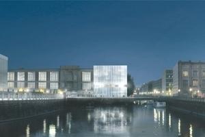 Gewinnerentwurf: Schweger Partner Architekten, Hamburg, die Bauakademie scheint in Betrieb genommen zu sein (von ThyssenKrupp, wie es jetzt aussieht!)