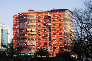 Virtuelle Klimaanlagen, Fassadenkonzept, Tirana 2004<br />