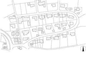 Lageplan, M 1: 3500