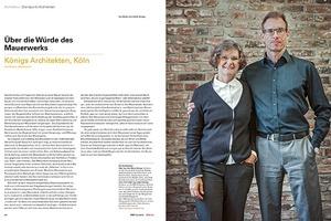 Heftpaten für DBZ 5I2015 (Mauerwerk) und Leserbriefadressaten: Königs Architekten, Köln