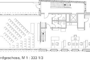 """<div class=""""13.6 Bildunterschrift"""">Grundriss Erdgeschoss, M 1:333 1/3</div>"""