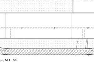 Längsschnitt Skaterrampe, M 1:50<br />