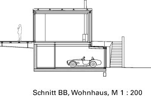 Schnitt BB, Wohnhaus, M 1:200<br />