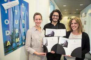 Preisträger v.l.n.r. Klara Bindl (RWTH Aachen), Matthias Faul (TU Kaiserslautern) und Elisa Hartmann (BHU Weimar)