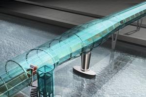 3D-Studie der Brücke im geschlossenen...<br />