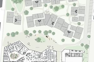 1.Platz: Der Schulbau grenzt sich mit einer klaren Gebäudekante vom benachbarten Industriegelände ab und öffnet sich der anliegenden Wohnbebauung